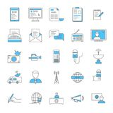 Mass Media and Journalism Thin Line Icon Set. Vector royalty free illustration