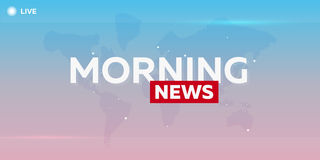 Mass media. Morning news. Breaking news banner. Live. Television studio. TV show. Royalty Free Stock Photo