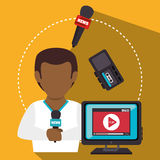 Mass media news graphic Royalty Free Stock Photography