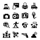 Mass media  & news icon set Royalty Free Stock Photography