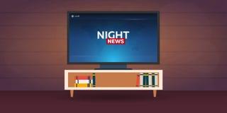 Mass media. Night news banner. Live. TV show. Mass media. Night news banner. Live TV show Royalty Free Stock Photos