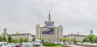 The Mass-Media Press House from Bucharest, Romania Royalty Free Stock Photography
