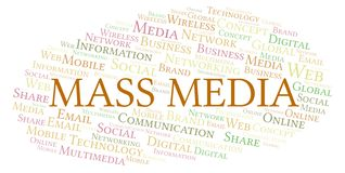 Mass Media word cloud royalty free illustration