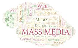Mass Media word cloud. Great graphic illustration for your needs, beautiful and colorful vector illustration
