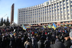 Mass meeting against Ukrainian government Stock Photography