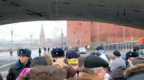 Mass Meeting in Moscow March 1st 2015 Stock Photos