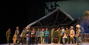 """The mass meeting-Peking Opera """"Taking Tiger Montain By Strategy"""" Royalty Free Stock Photo"""