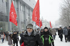 Mass-meeting to oppositions in Saratov. Royalty Free Stock Image
