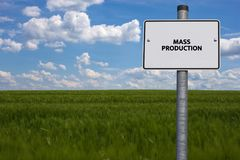 MASS PRODUCTION - image with words associated with the topic AUTOMOTIVE INDUSTRY, word, image, illustration Royalty Free Stock Photos