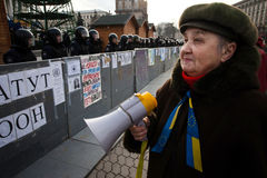 Mass protest against the refusal of the Government of Ukraine on Royalty Free Stock Images