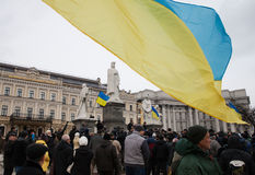 Mass protest against the refusal of the Government of Ukraine on Royalty Free Stock Photos