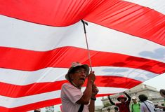 Mass protest greeted US President Barack Obama in Philippines Royalty Free Stock Photography