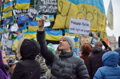 Mass protest in the Ukrainian capital Royalty Free Stock Image