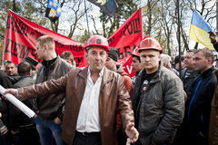 Mass protests of miners Royalty Free Stock Photos