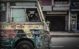Mass Public Transportation In Bangladesh royalty free stock photo