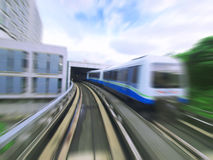 Mass rapid transit. Through tunnel Royalty Free Stock Photos