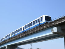 Mass rapid transit. On bridge Stock Photos