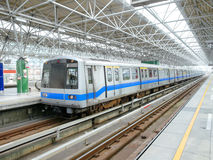 Mass rapid transit. In station Stock Photos