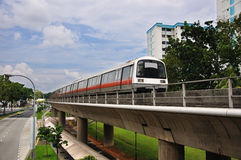 Mass Rapid Transit - Singapore MRT Train Royalty Free Stock Photos