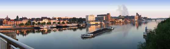 THE MASS RIVER IN THE MORNING LIGHT Stock Image