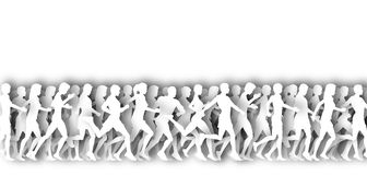 Mass runners cutout Royalty Free Stock Photography