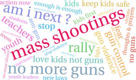 Mass Shootings Word Cloud royalty free illustration