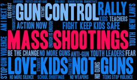 Mass Shootings Word Cloud. On a white background vector illustration