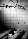 Mass showers. Showers at the fort in breendonk stock image