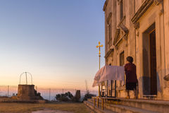 Mass in Sicily Stock Image