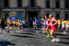 Mass sports race. Sporting event in the center of Rome. Italy Royalty Free Stock Images