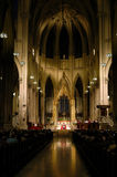 Mass at St. Patrick's Cathedral, Manhattan, NYC. Royalty Free Stock Image