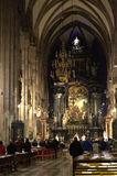 Mass in Stephansdom Vienna,Austria Royalty Free Stock Photography
