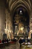 Mass in Stephansdom Vienna,Austria Royalty Free Stock Photography