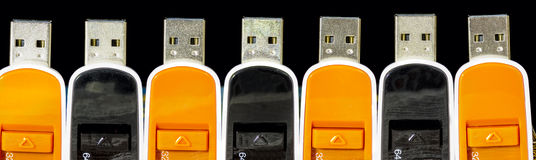 Mass storage drive of different colors Royalty Free Stock Images