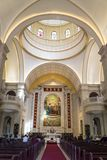 Mass taking place in Roman Catholic Church, Kunming, Yunnan province, China royalty free stock photography