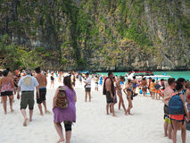 Mass tourism beaches of Thailand Stock Images