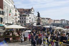 Mass tourism in venice, italy Royalty Free Stock Image