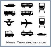 Mass transportation. Where we go we need it stock illustration