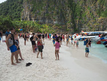 Mass turism on Thailand Royalty Free Stock Photo