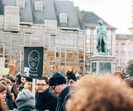 Mass unity rally held in Strasbourg following recent terrorist a Stock Photos