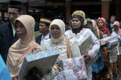 Mass Wedding Ceremony in Indonesia Royalty Free Stock Photos