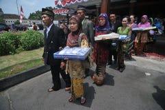 Mass Wedding Ceremony in Indonesia Stock Image