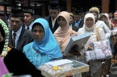 Mass Wedding Ceremony in Indonesia Stock Photos