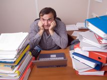 Mass work depression Stock Photo