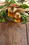 Massa, azeite e ervas Wholegrain do artesão Imagem de Stock