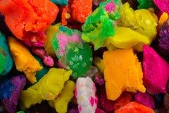 Massa colorida seca do jogo nas partes Fotografia de Stock Royalty Free