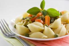 Massa com vegetais Imagem de Stock