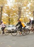 Massa crítica do passeio da bicicleta Fotografia de Stock