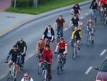 Massa crítica, Lublin, Poland Imagem de Stock Royalty Free
