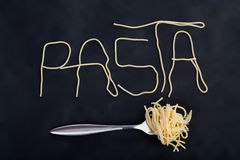 Massa da palavra feita do sapghetti foto de stock royalty free